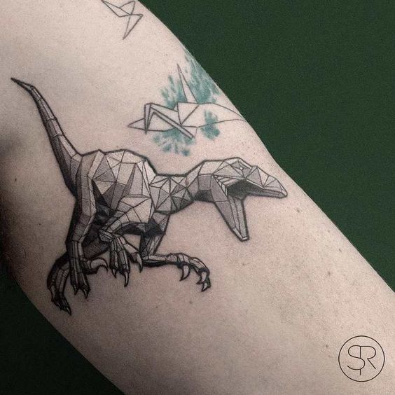 Dinosaur Tattoos Designs Ideas And Meaning: 30 Cool Low Poly Tattoo Designs