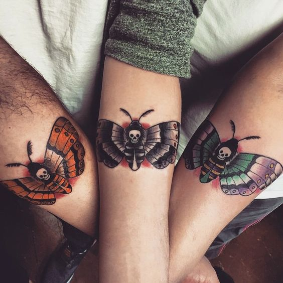 Moth Forearm Tattoos