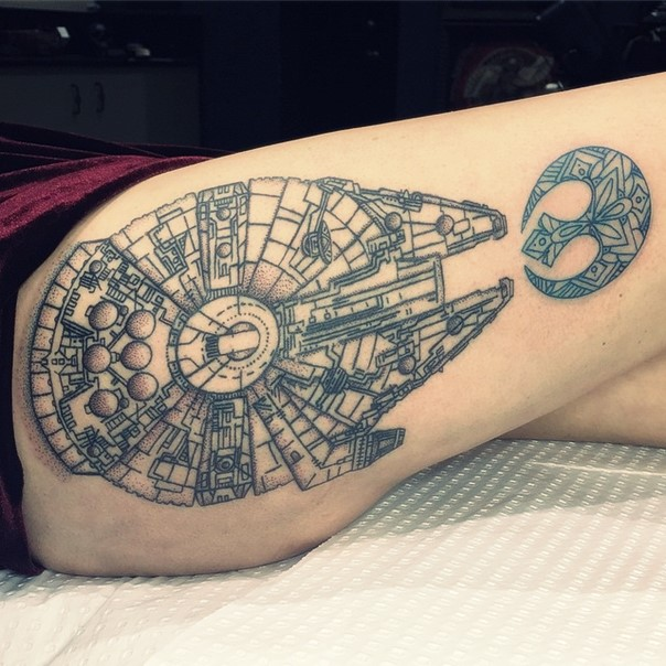 40 awesome star wars tattoo designs amazing tattoo ideas. Black Bedroom Furniture Sets. Home Design Ideas