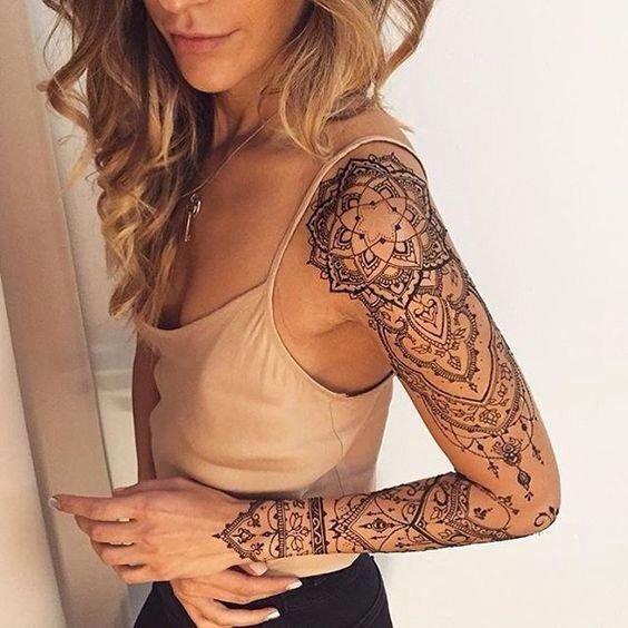 Intricate Mandala Sleeve Tattoo