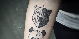 Geometric Animals Forearm Tattoo