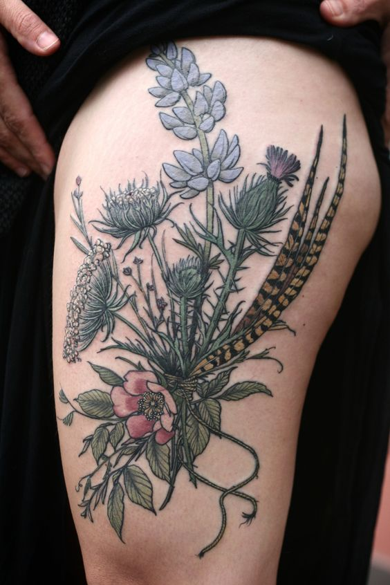 30 Splendid Floral Bouquet Tattoo Designs | Amazing Tattoo Ideas
