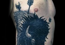 Beast Side Body Tattoo
