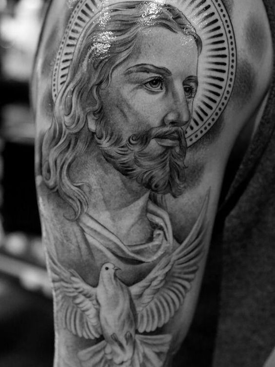 Divine Jesus Arm Tattoo
