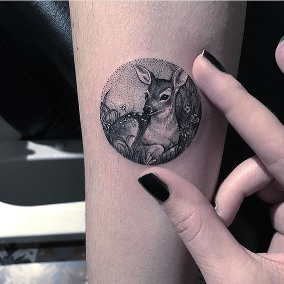 a52614c4e875d Dotwork Deer Arm Tattoo. Image Credit: Instagram. BackNext. TAGS; Small  Animal Tattoos