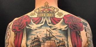 Classic Ship Back Tattoo