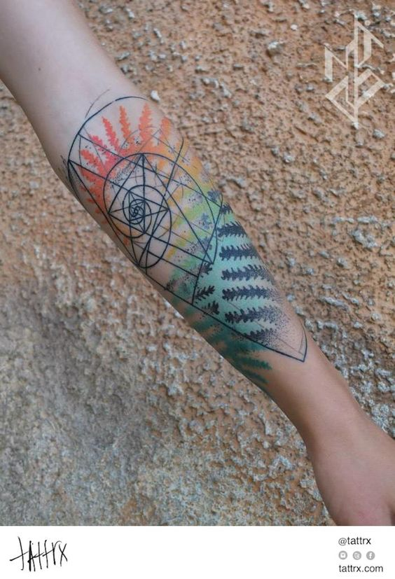 Fibonacci Fern Arm Tattoo