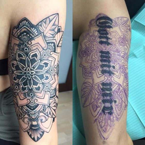 Mandala Cover Up Arm Tattoo