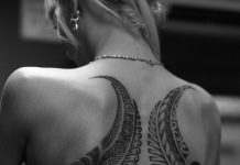 Paisley Wings Back Tattoo