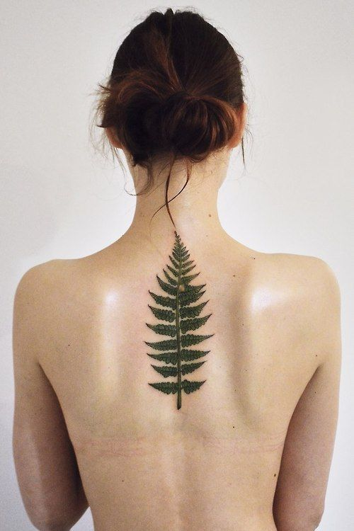 Stunning Fern Spine Tattoo