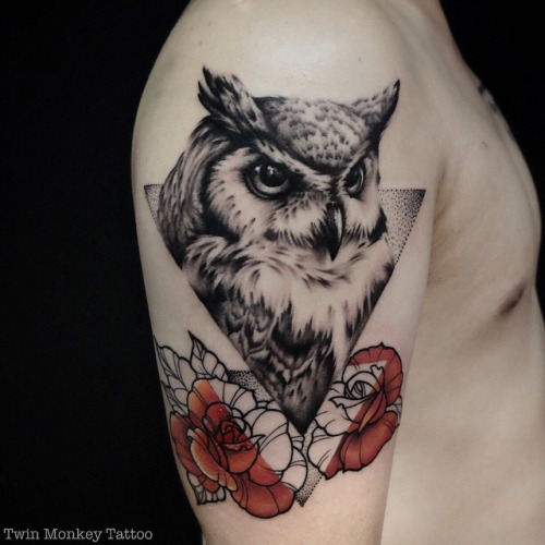 Owl Tattoos Designs Ideas And Meaning: 35 Glorious Geometric Owl Tattoos