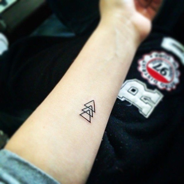 3a55a1a06 Triangles Forearm Tattoo | Amazing Tattoo Ideas