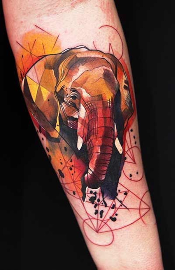 35 geometric elephant tattoos amazing tattoo ideas