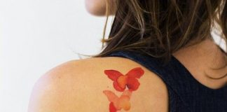 Watercolor Butterflies Back Tattoo