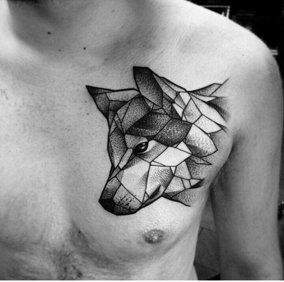 35 astonishing geometric wolf tattoos amazing tattoo ideas. Black Bedroom Furniture Sets. Home Design Ideas