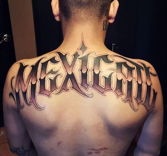 Mexican Chicano Upper Back Tattoo Amazing Tattoo Ideas