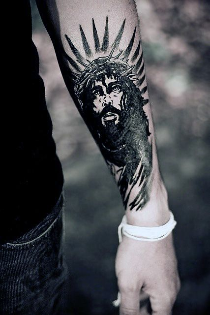 b25e5ba19 30 Jesus On Forearm Tattoo Designs | Amazing Tattoo Ideas