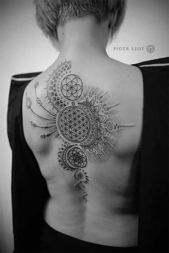 The Sacred Geometry Back Tattoo