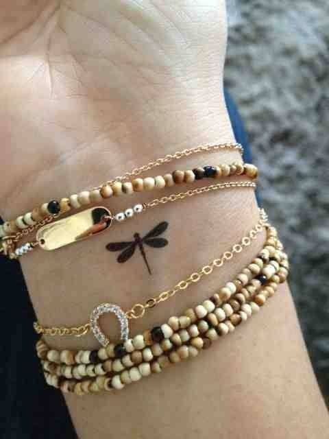 Cute Damselfly Wrist Tattoo