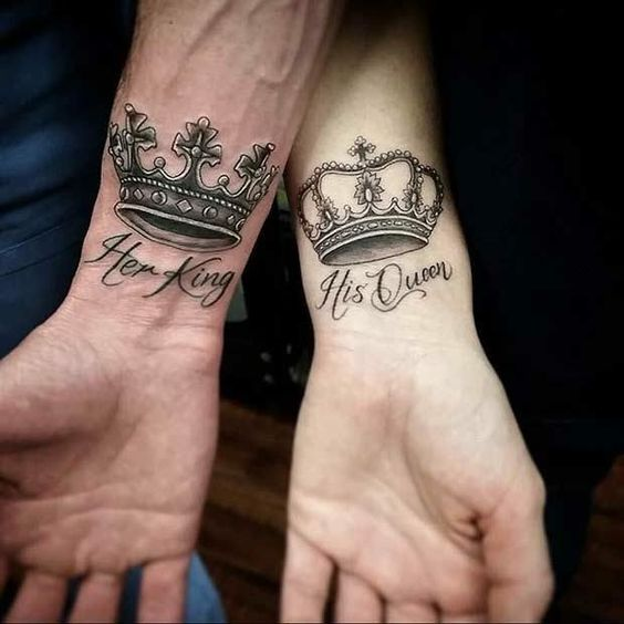 Royalty Lovers Wrist Tattoo
