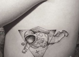 Space Inspired Side Body Tattoo