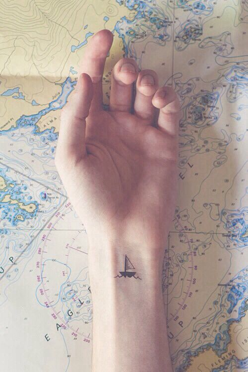 Very Cute Boat Wrist Tattoo