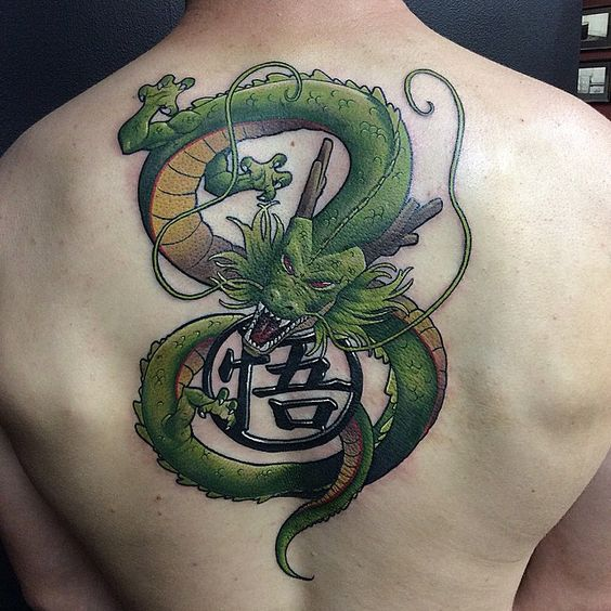 Dragon Shenron Back Tattoo