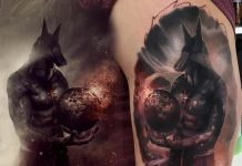 Realistic Anubis Destroying the World Arm Tattoo