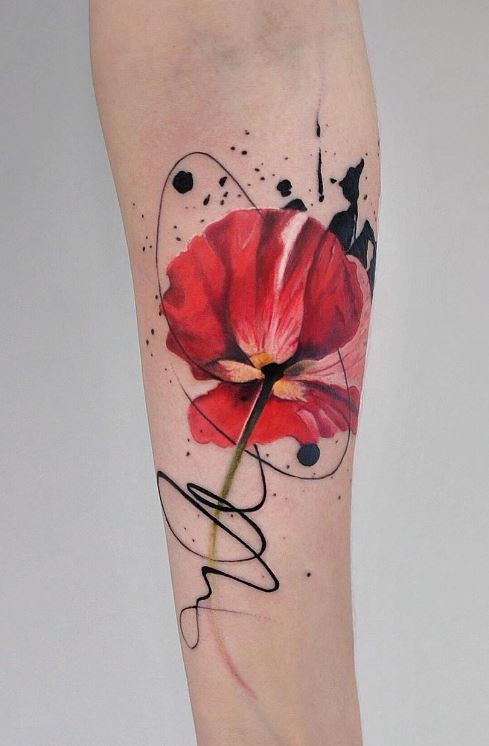 40 Breathtaking Watercolor Flower Tattoo Designs Amazing Tattoo Ideas