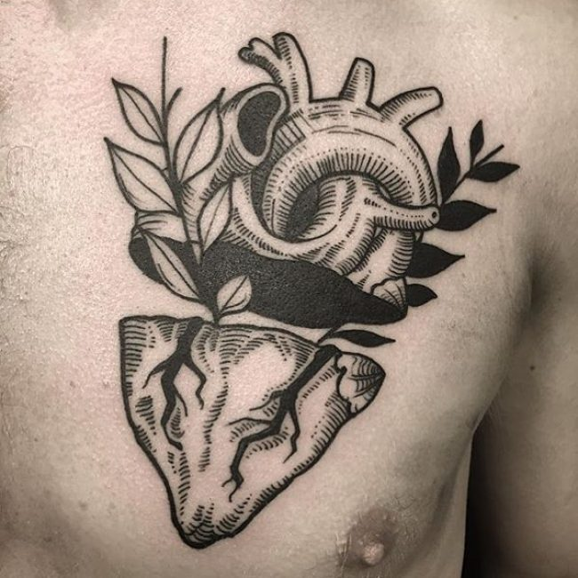 38 anatomical heart tattoos amazing tattoo ideas