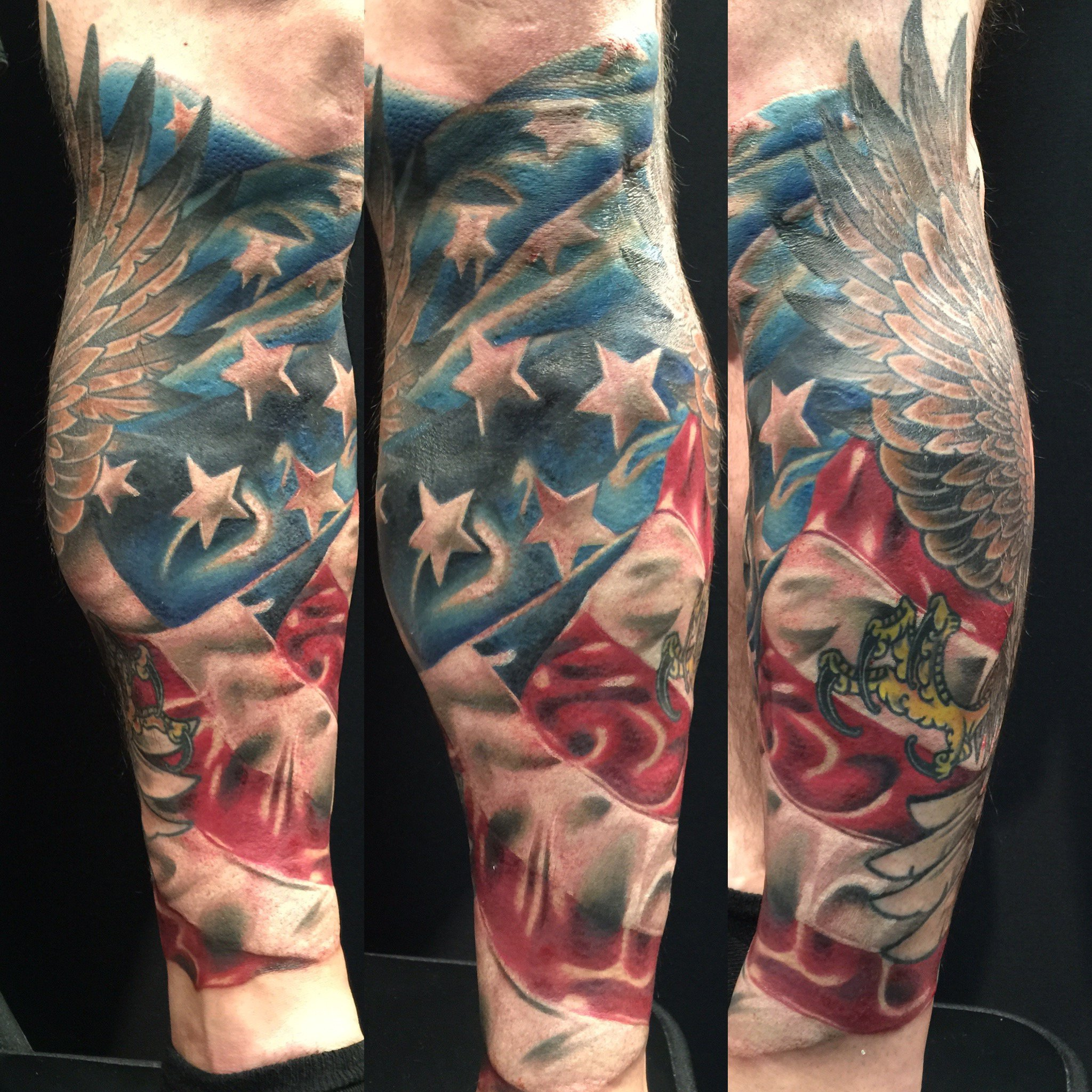 23mesmerizing American Flag Tattoo Sleeve
