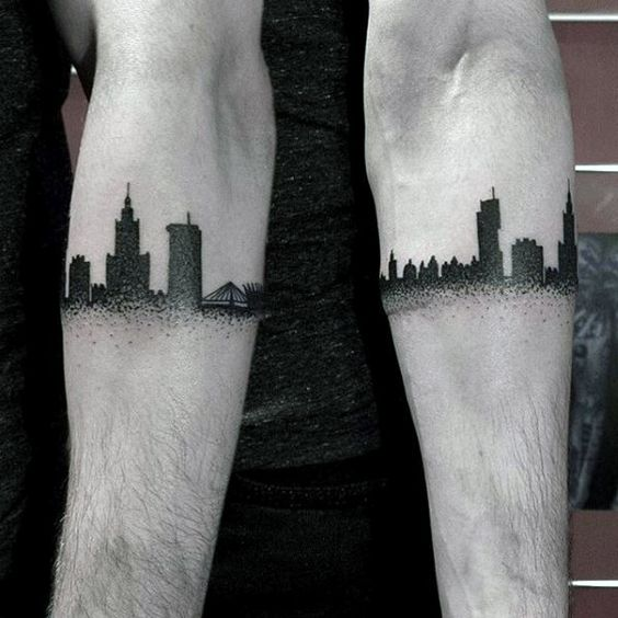 Architecture Inspired Armband Tattoo