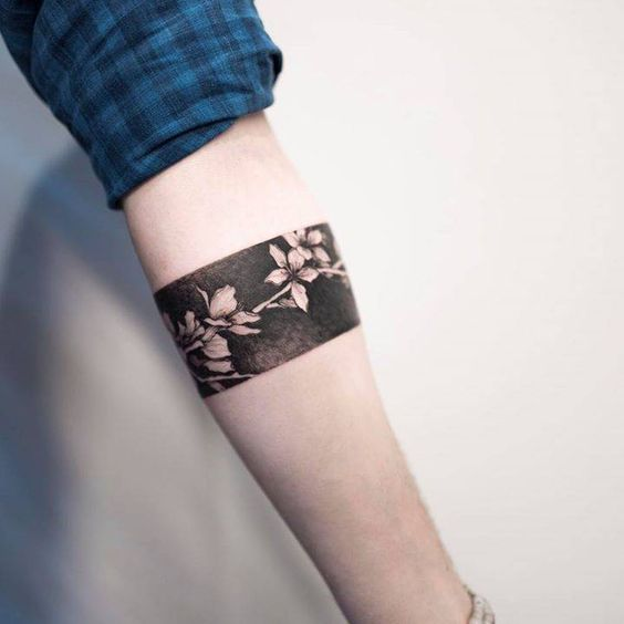 Cherry Blossoms Armband Tattoo
