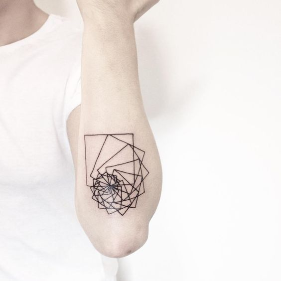 Fibonacci Inspired Arm Tattoo