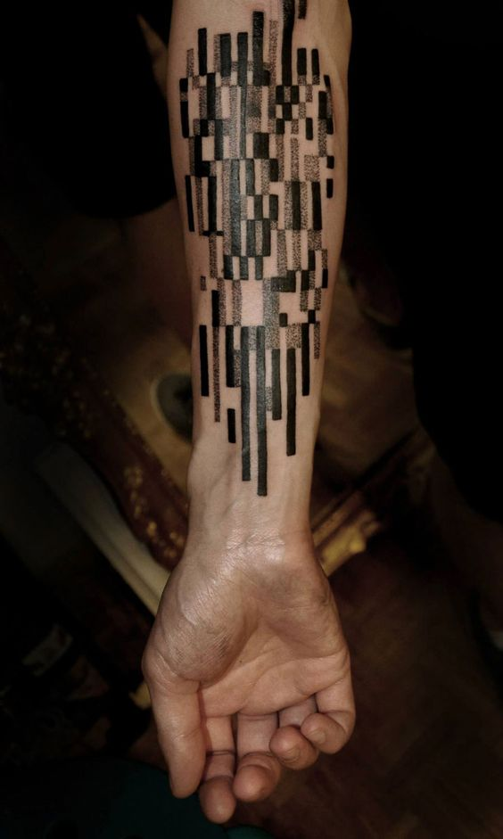 Geometric Lines Forearm Tattoo