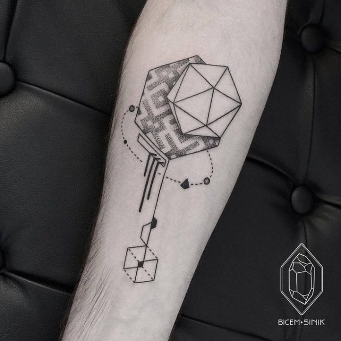 Illustrative Geometry Forearm Tattoo