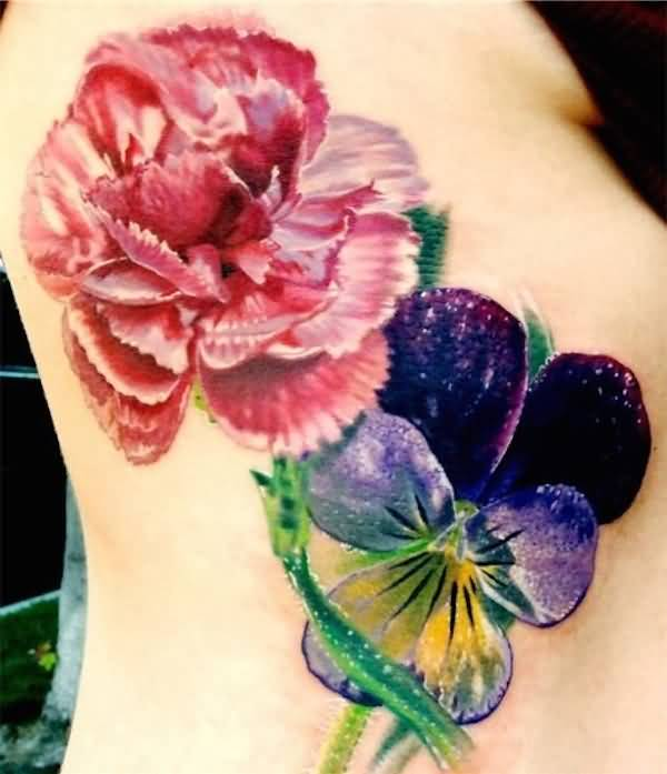 Lovely 3D Flower Tattoo
