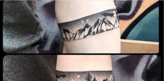 Night Scene Landscape Armband Tattoo