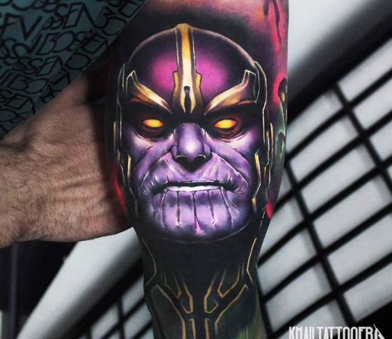 Realistic Marvel Inspired Arm Tattoo