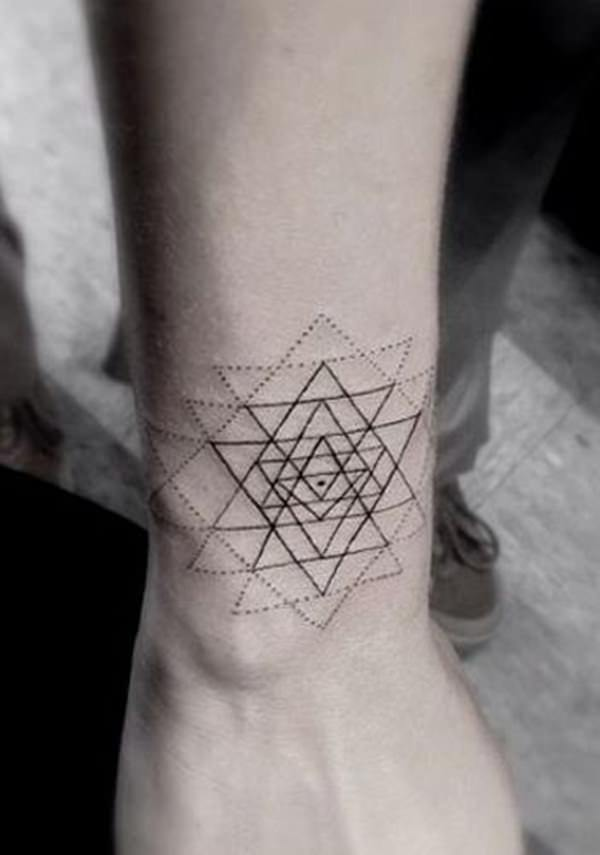 Sacred Geometry Wrist Tattoo