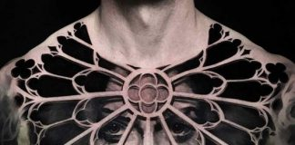 Trapped Woman Chest Tattoo
