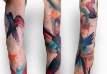Brush Stroke Colors Sleeve Tattoo