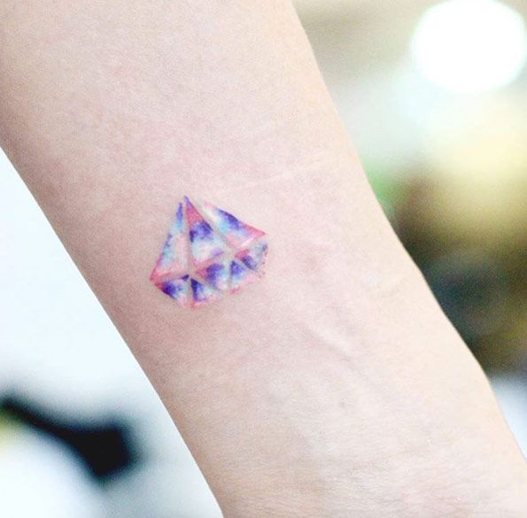 Pastel Diamond Tattoo