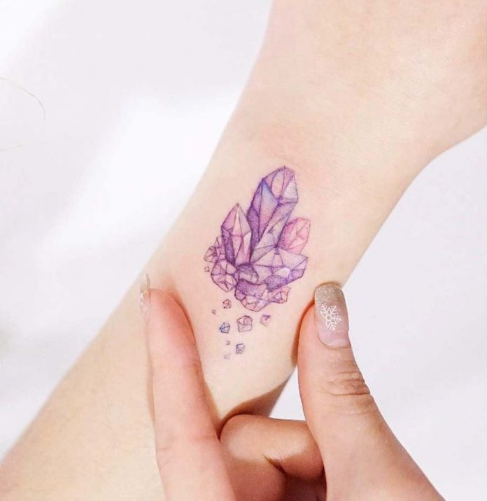 Pastel Gems Wrist Tattoo