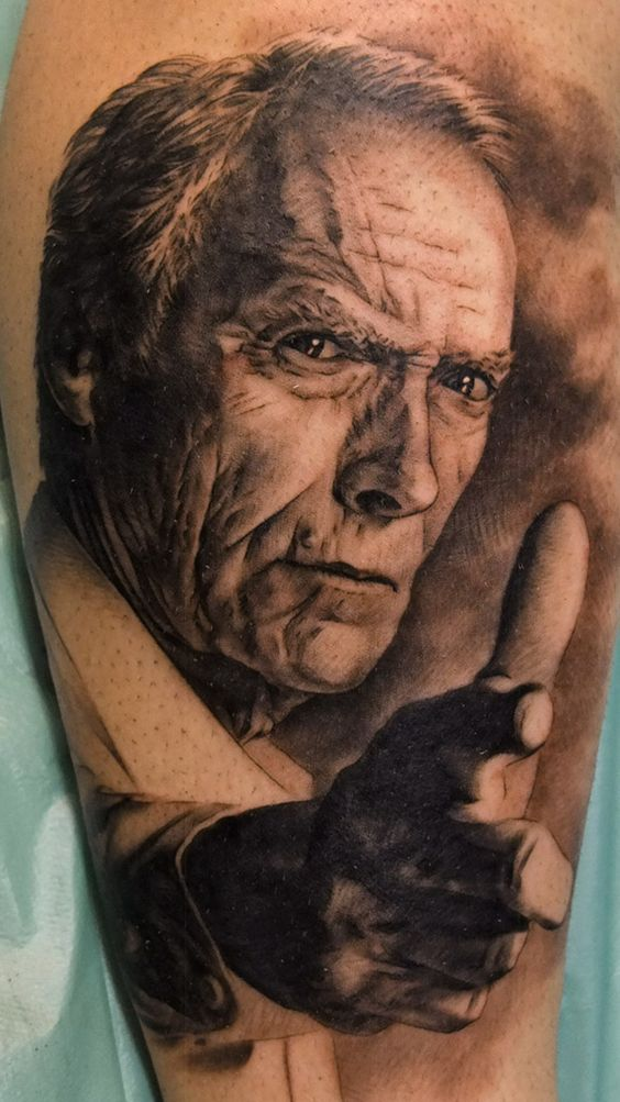 Clint Torino Portrait Tattoo