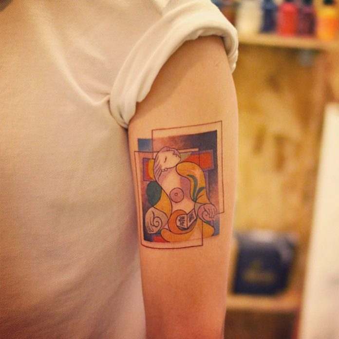 La Lecture By Picasso Tattoo