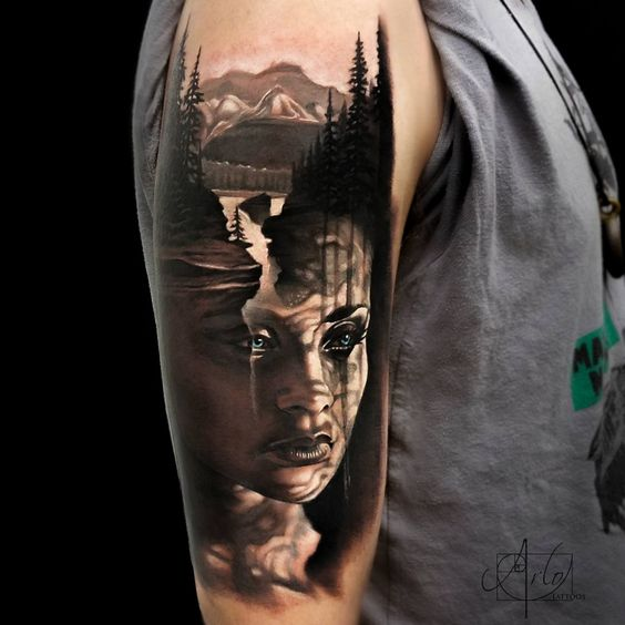 18 Amazing Leo Sleeve Tattoos: 40 Jaw Dropping Portrait Tattoos
