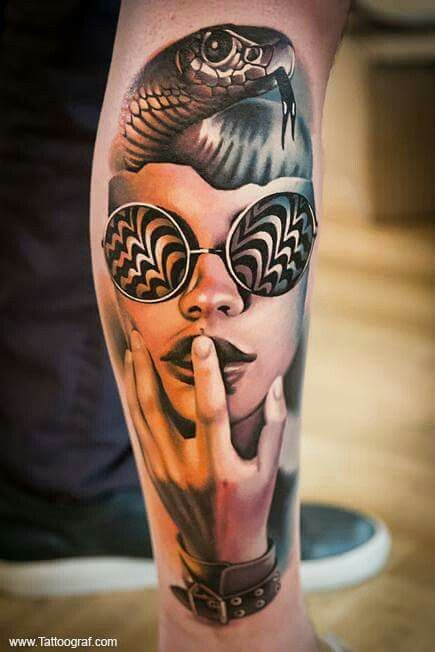 Modernistic Portrait Tattoo