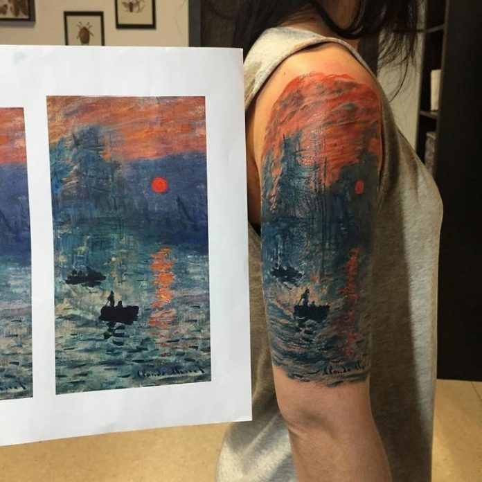 Monet's Impression, Sunset Arm Tattoo