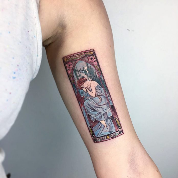 Mucha's The Times Of The Day Tattoo